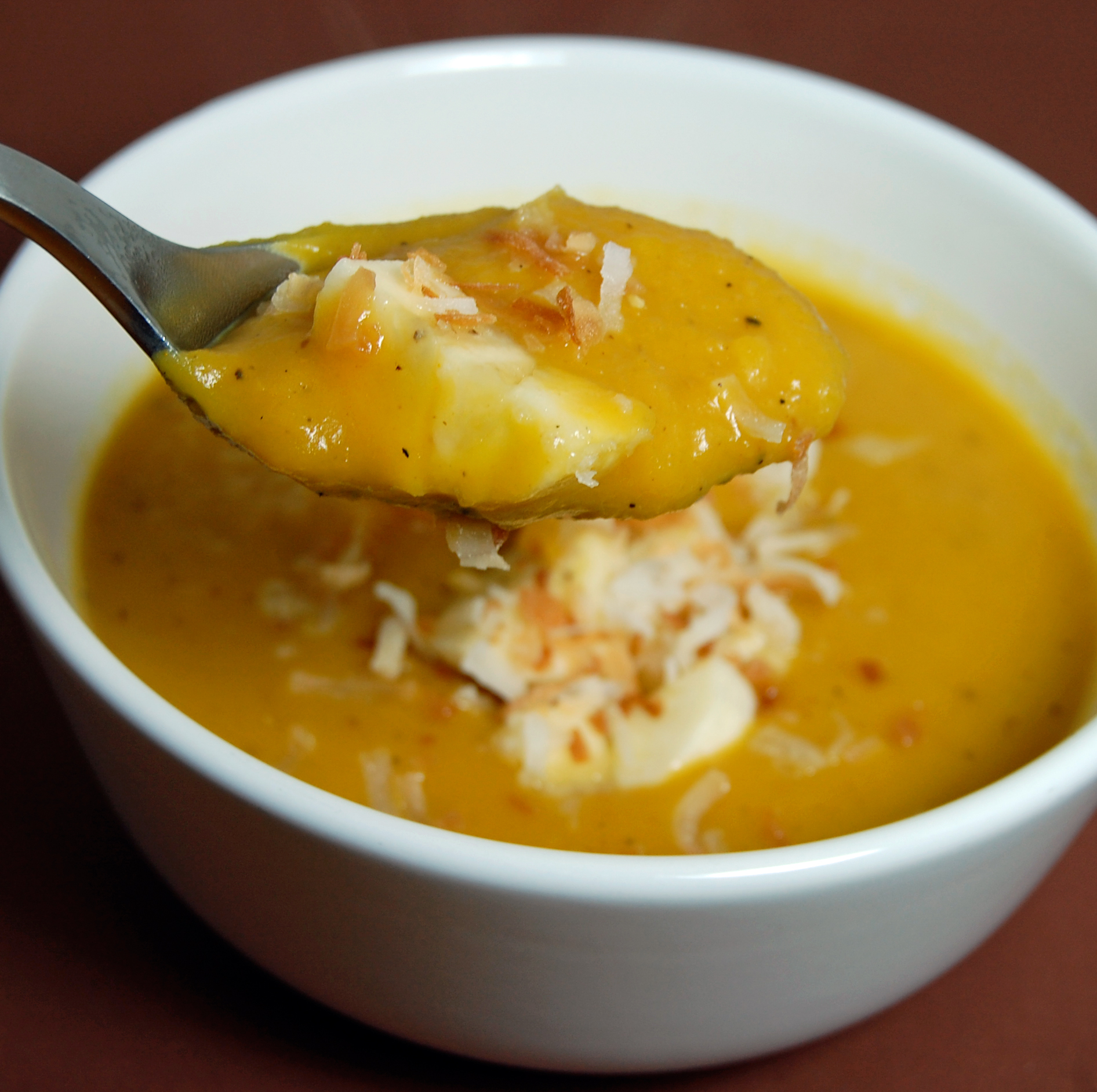 Roasted Butternut Squash Soup & Curry Condiments