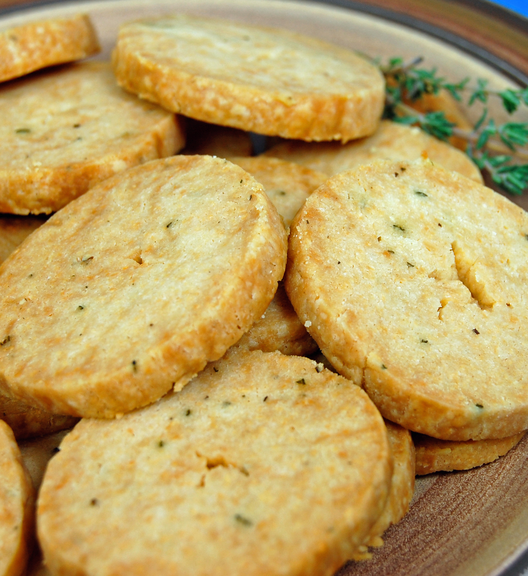 Parmesan & Thyme Crackers